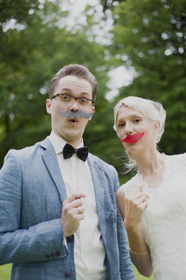 snorretjes op trouwfoto