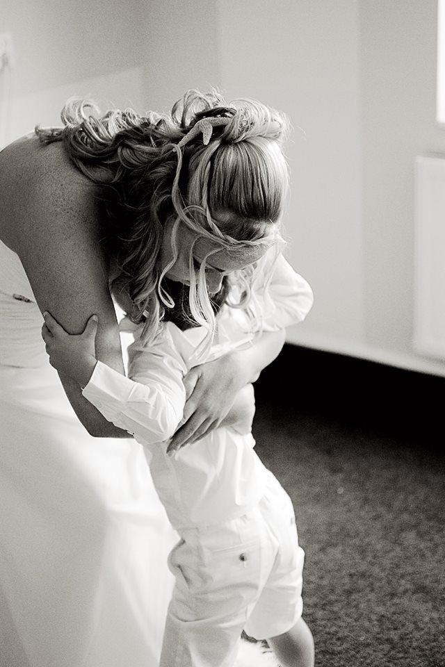 bruid met zoon