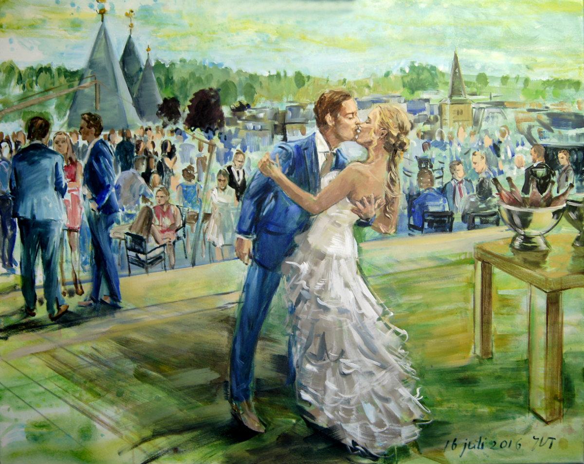 Een schilderij van jullie bruiloft for Schilderij buiten intratuin