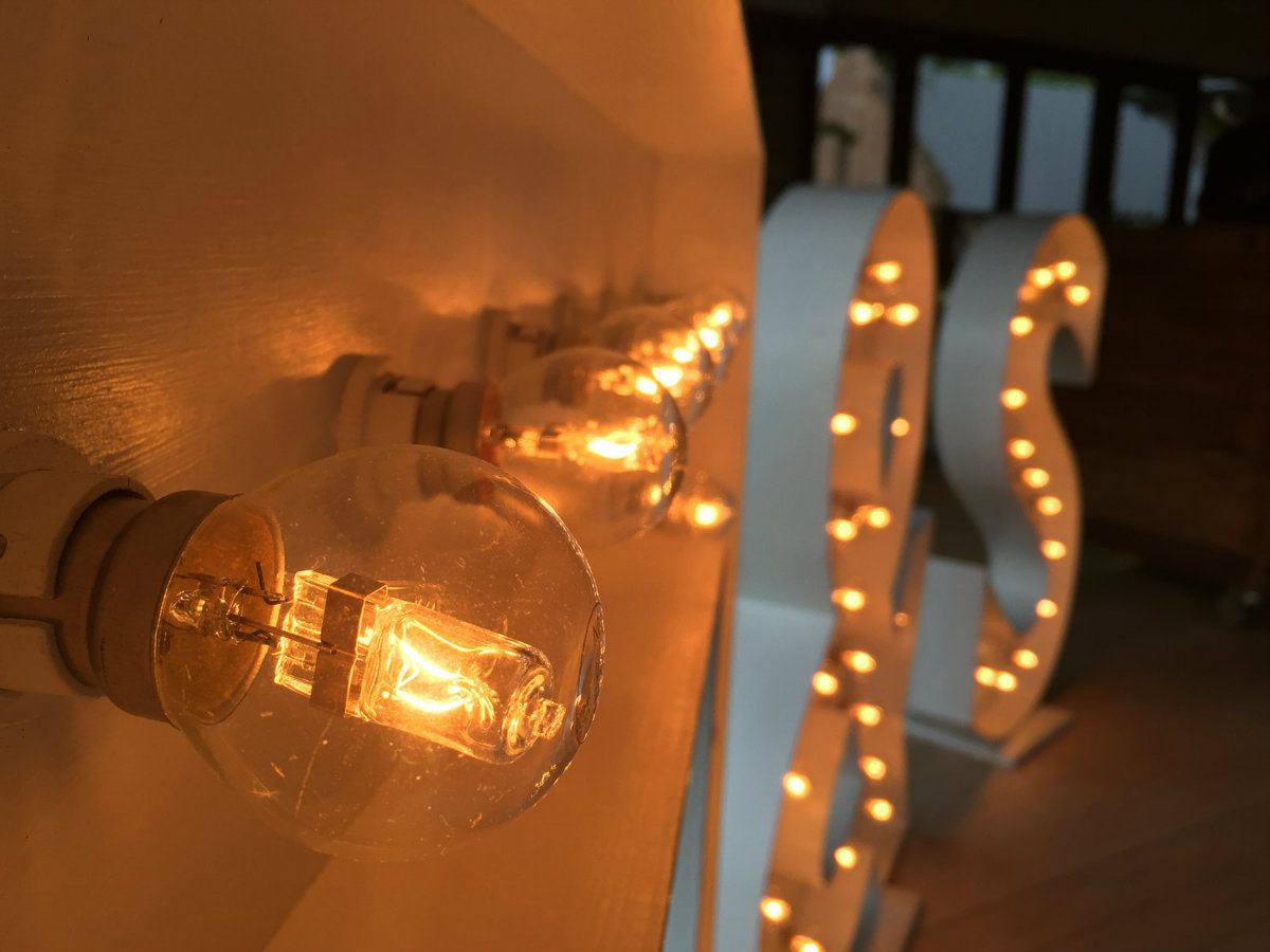 Marquee Letters Verlichting : Lichtletters op je bruiloft
