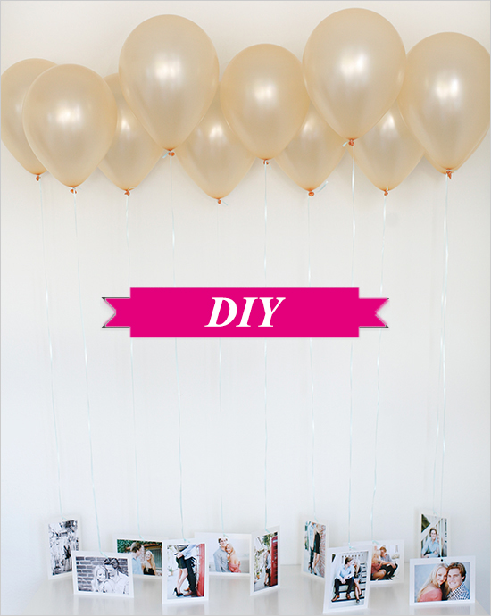 DIY: Decoratie met ballonnen en foto's
