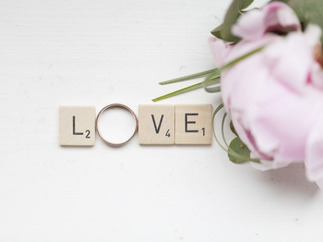 Love bruiloft