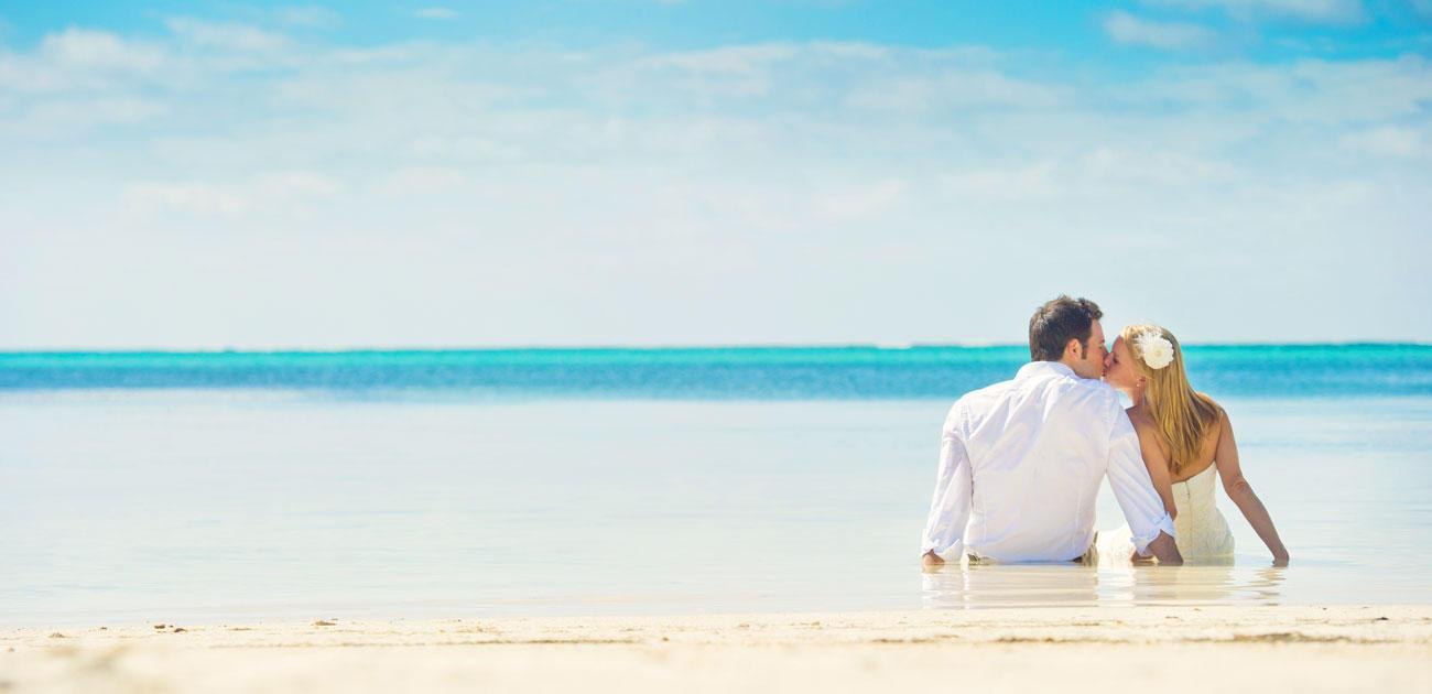 strand huwelijksreis