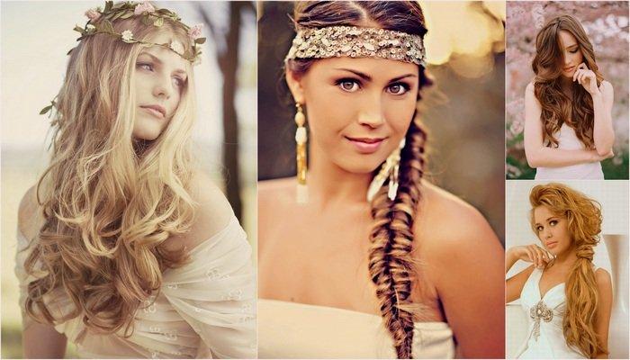 lange haren bruid