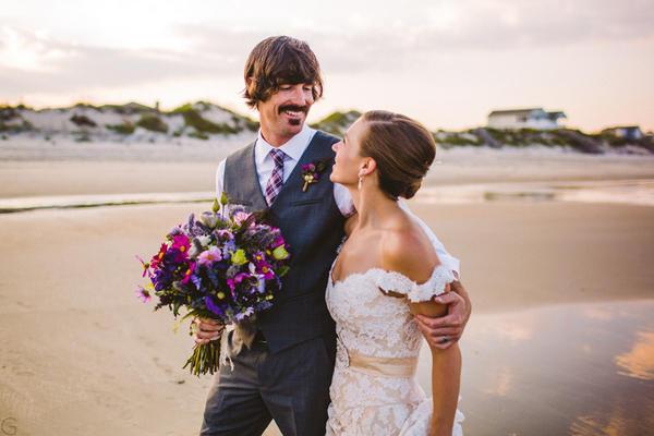 bruidegom met snor