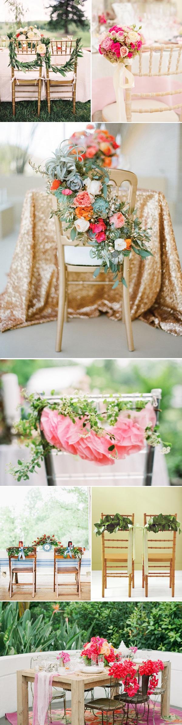 Decoratie tips om de stoelen te versieren for Bloemen decoratie