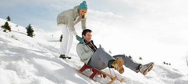 huwelijksreis in de sneeuw
