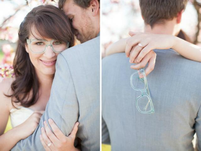 Bruid met bril blauw