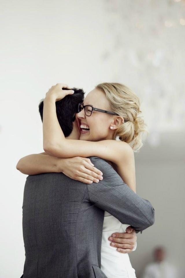 Bruid met bril zwart