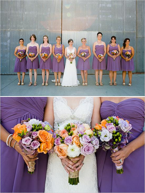 Kleurenthema paars en Peach
