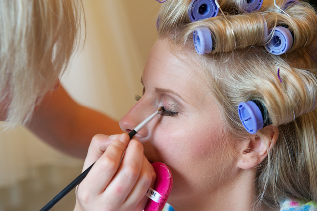 real wedding make-up