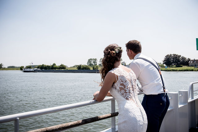 bruidspaar boot