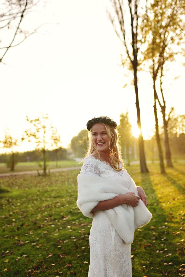 Jurk Voor Bruiloft Winter.Styled Shoot Bruiloft In Het Najaar