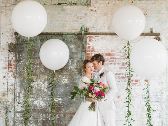 Ballonnen op je trouwfotos