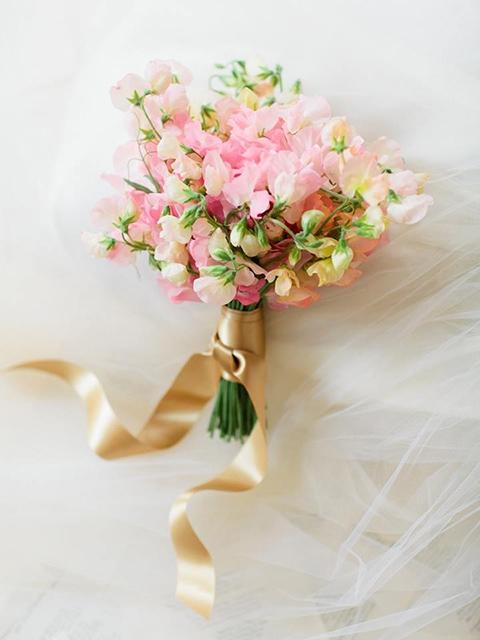 bruidsboeket met Pronkerwt
