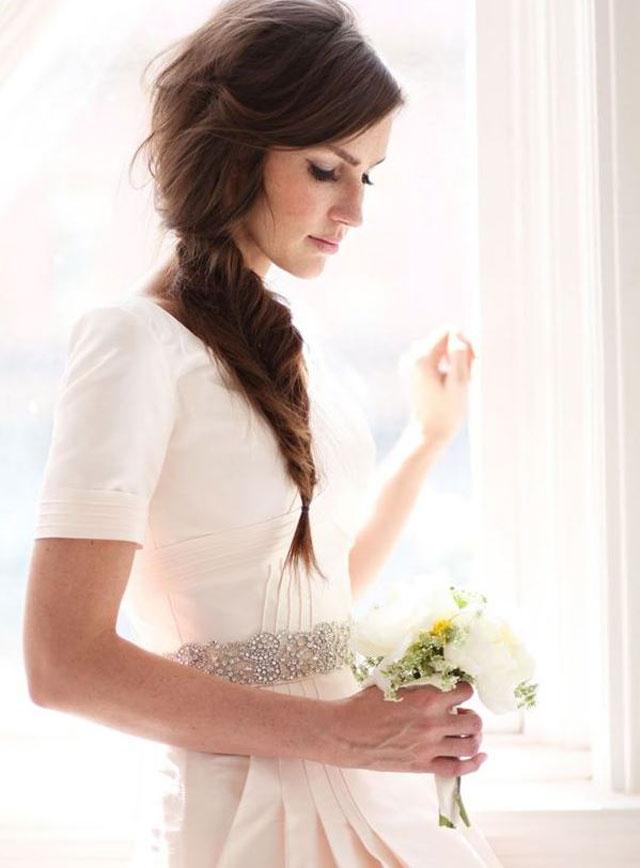 bruidskapsel fishtail