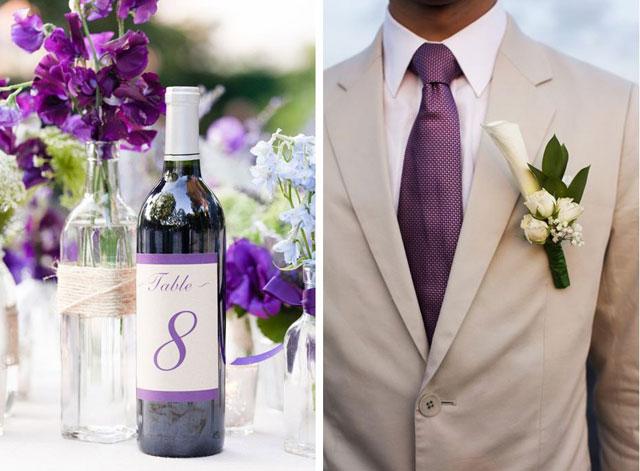 bruiloft paars