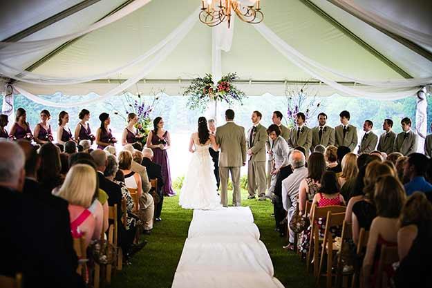 bruiloft tent