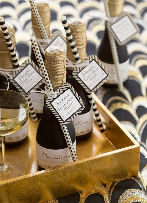 champagne bedankjes trouwdag