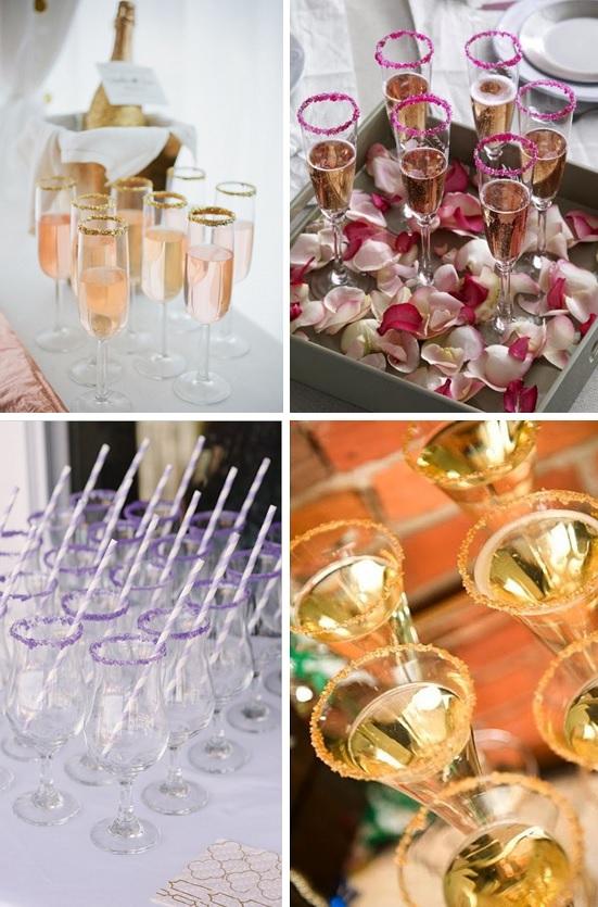 champagneglazen trouwdag