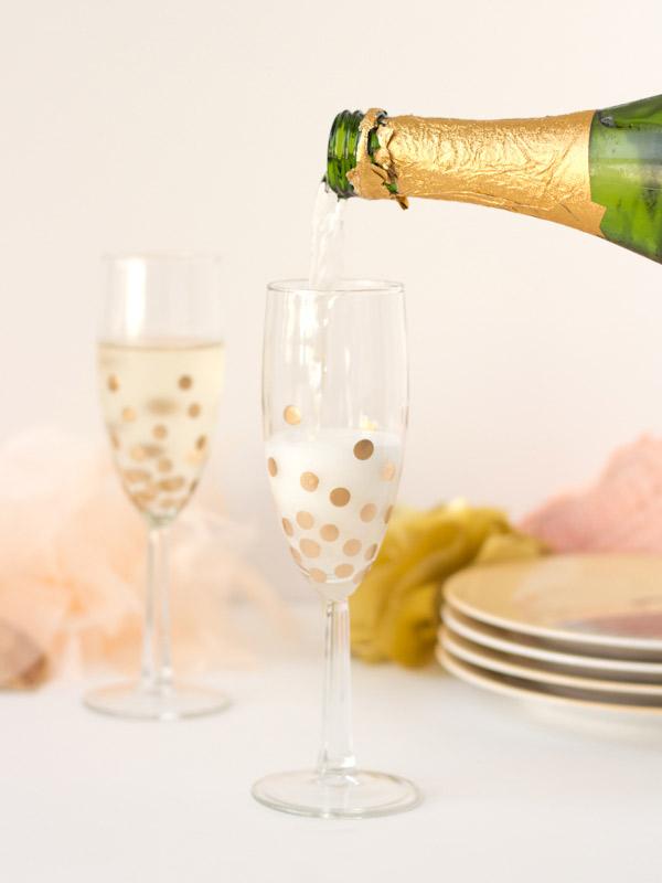 champagneglazen diy