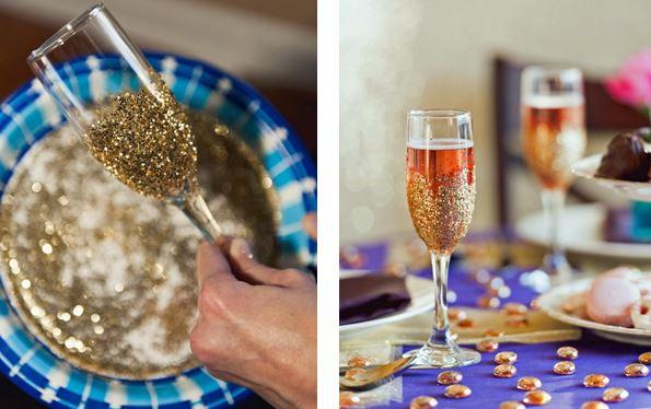 champagneglazen glitters