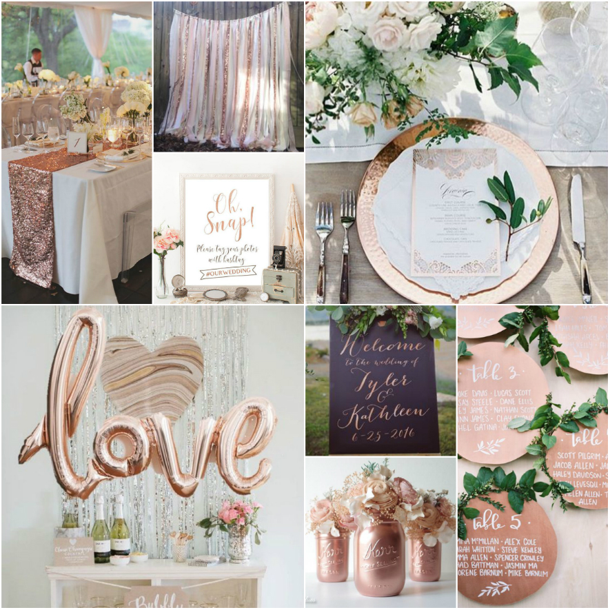 Decoratie rose gold