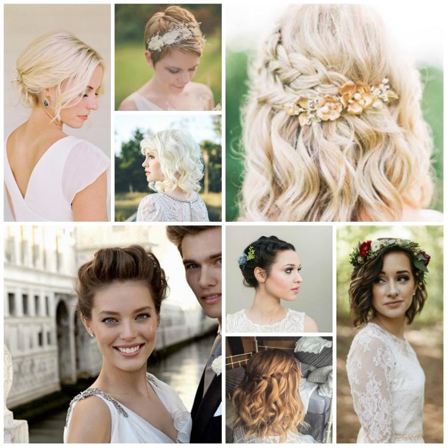 Fabulous Bruidskapsels voor kort haar &SZ87