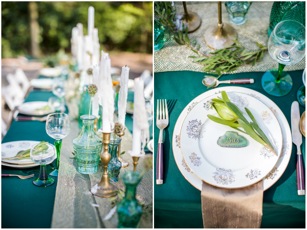 bruidspaar diner tablesetting