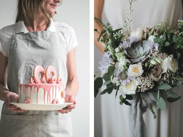 De mooiste bloemen en taarten
