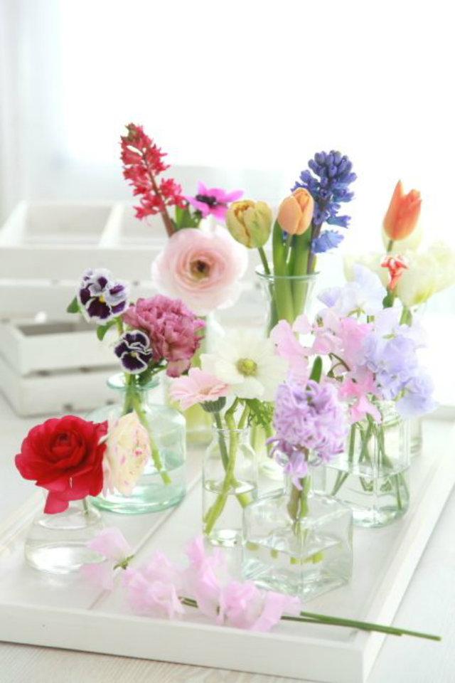 tafel decoratie lente