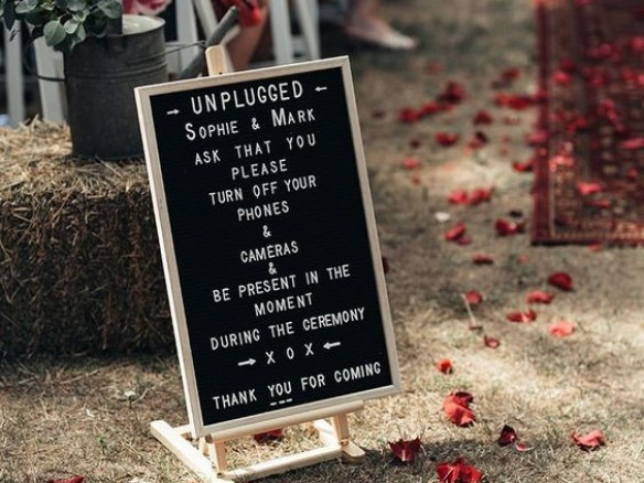 Dilemma dinsdag: wel of geen unplugged wedding