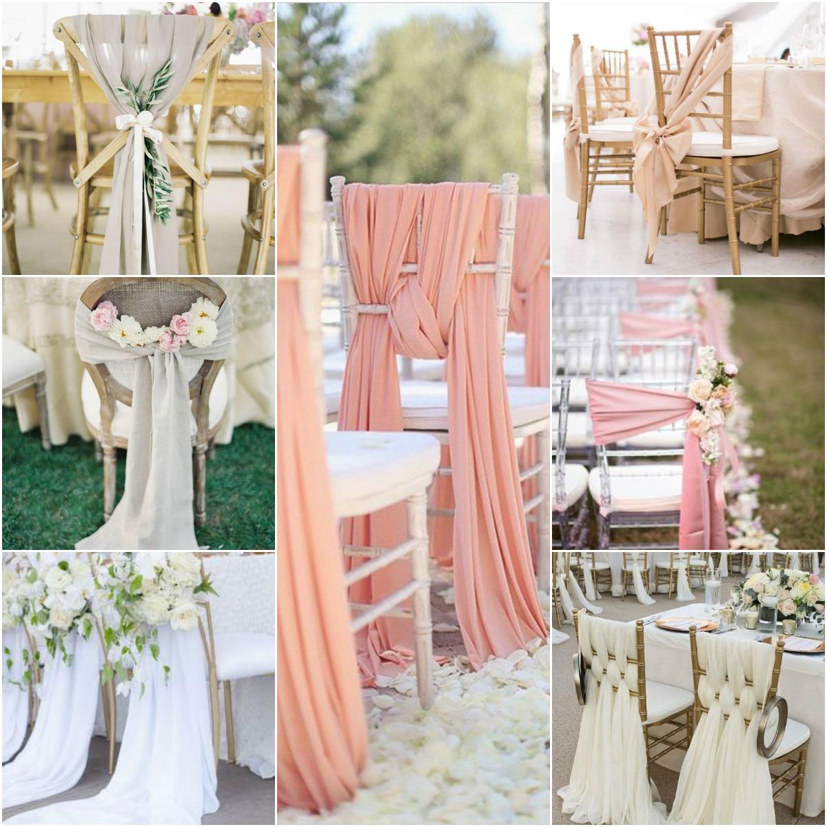 Fonkelnieuw Inspiratie decoratie stoelen bruiloft PI-62