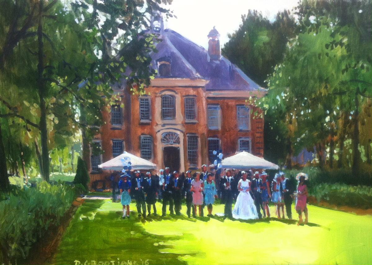 schilderij bruiloft