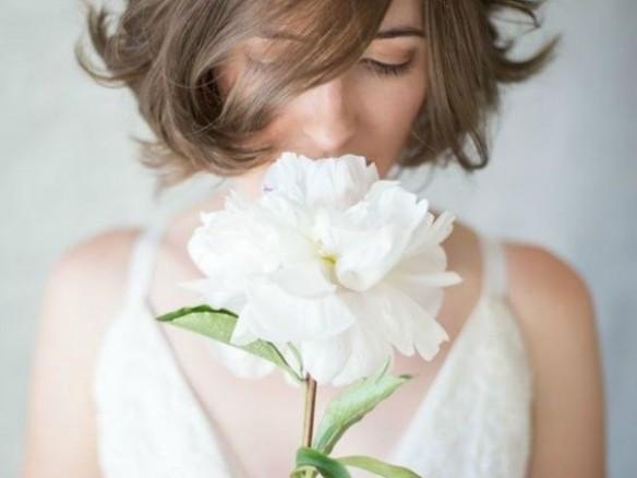 Een bruidsboeket van een bloem