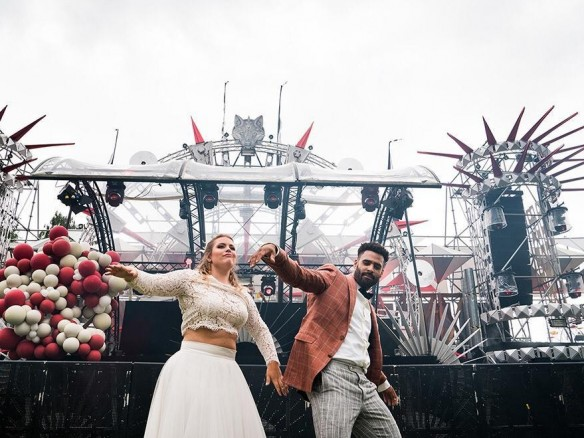 fancy festival wedding
