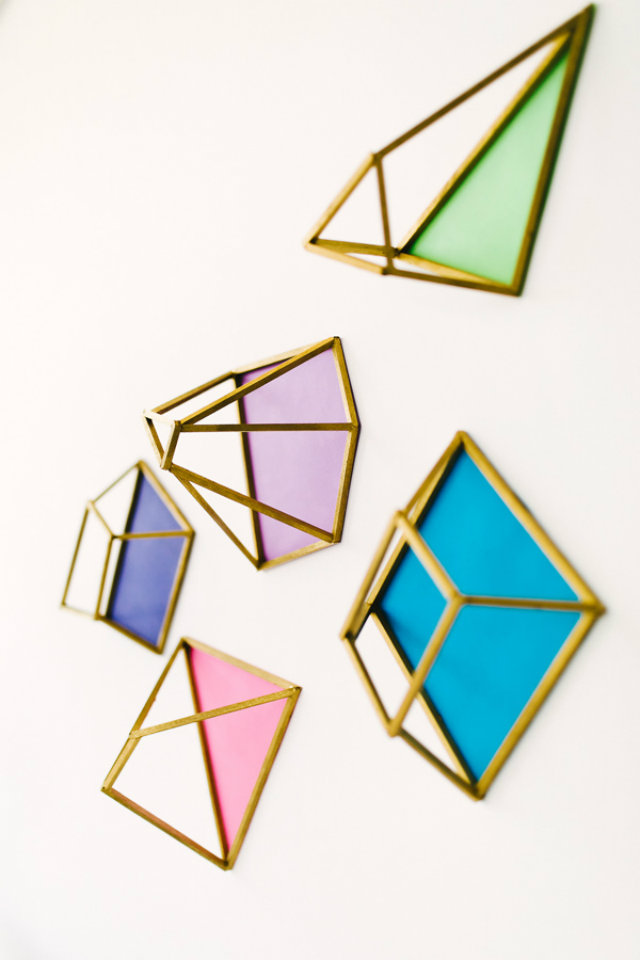 DIY geometrische vormen