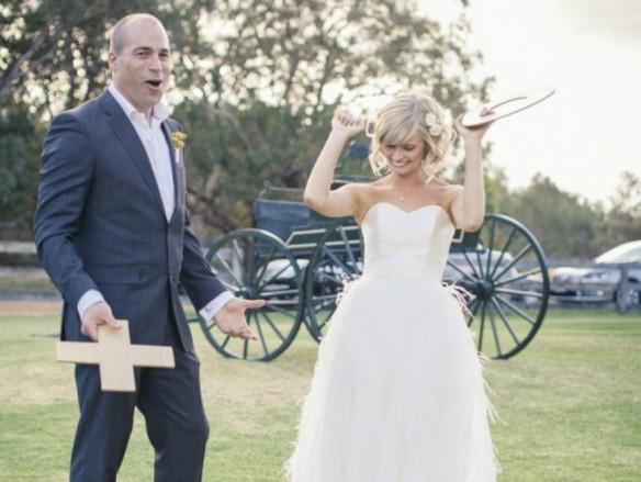 Gasten vermaken bruiloft