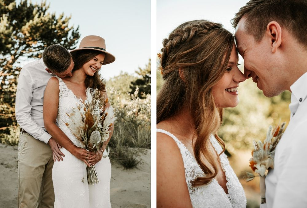golden hour styled shoot in de katwijkse duinen