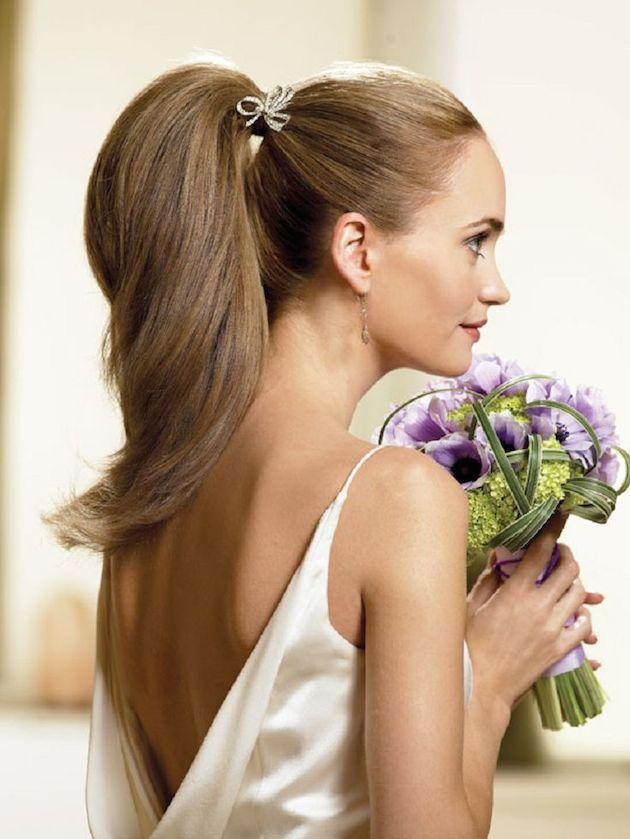 hoge staart bruidskapsel