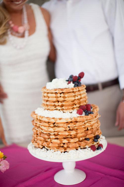 bruidstaart van wafels