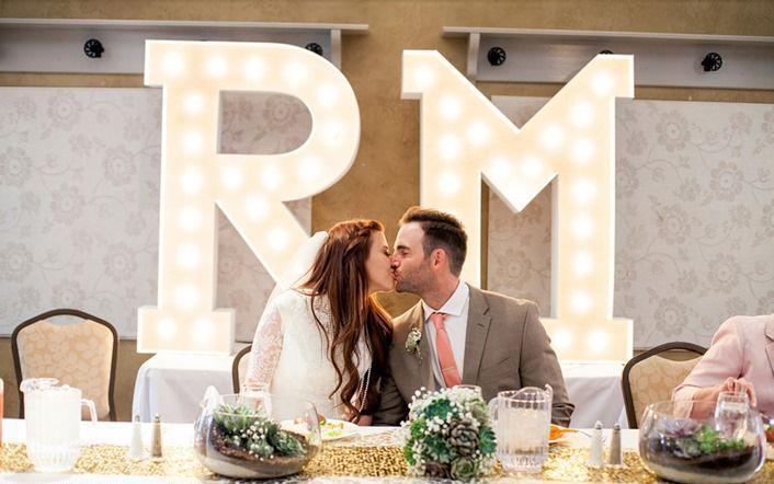 lichtletters bruiloft