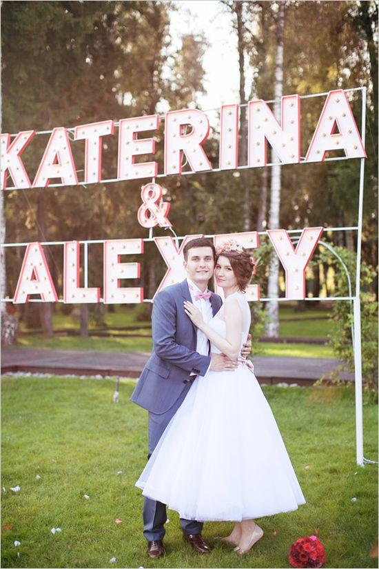 lichtletters decoratie bruiloft