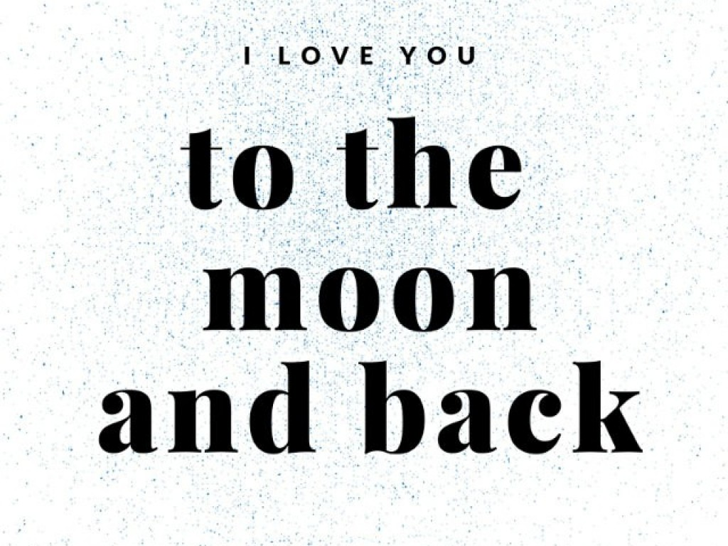love quote to the moon and back