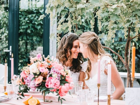 lovely citrus styled shoot