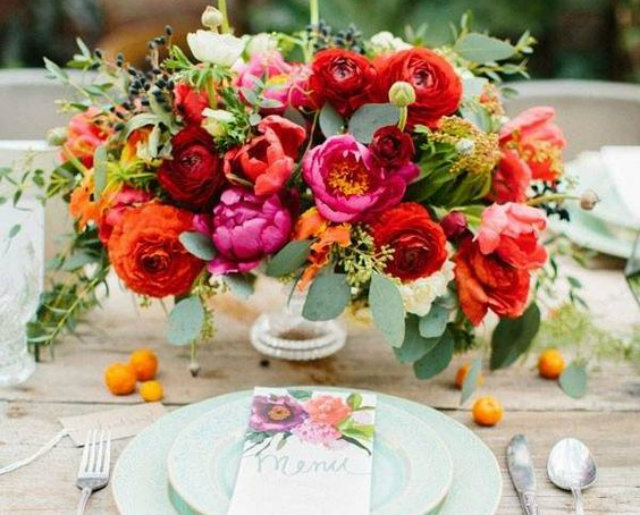 centerpieces rood