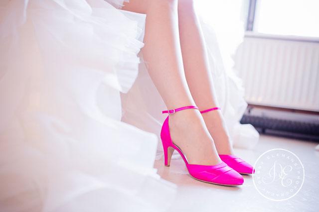 trouwschoenen roze