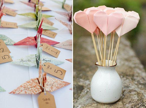 Origami als decoratie op je bruiloft