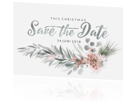 save the date kerstkaart
