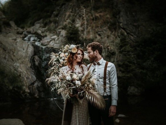 styled shoot rough elopement love